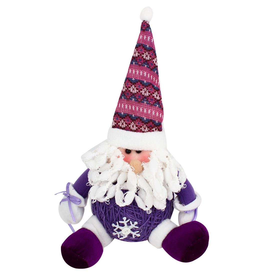 Long Mustache Santa Claus Christmas Toy Doll Gift Purple White for Xmas Trees Ornament