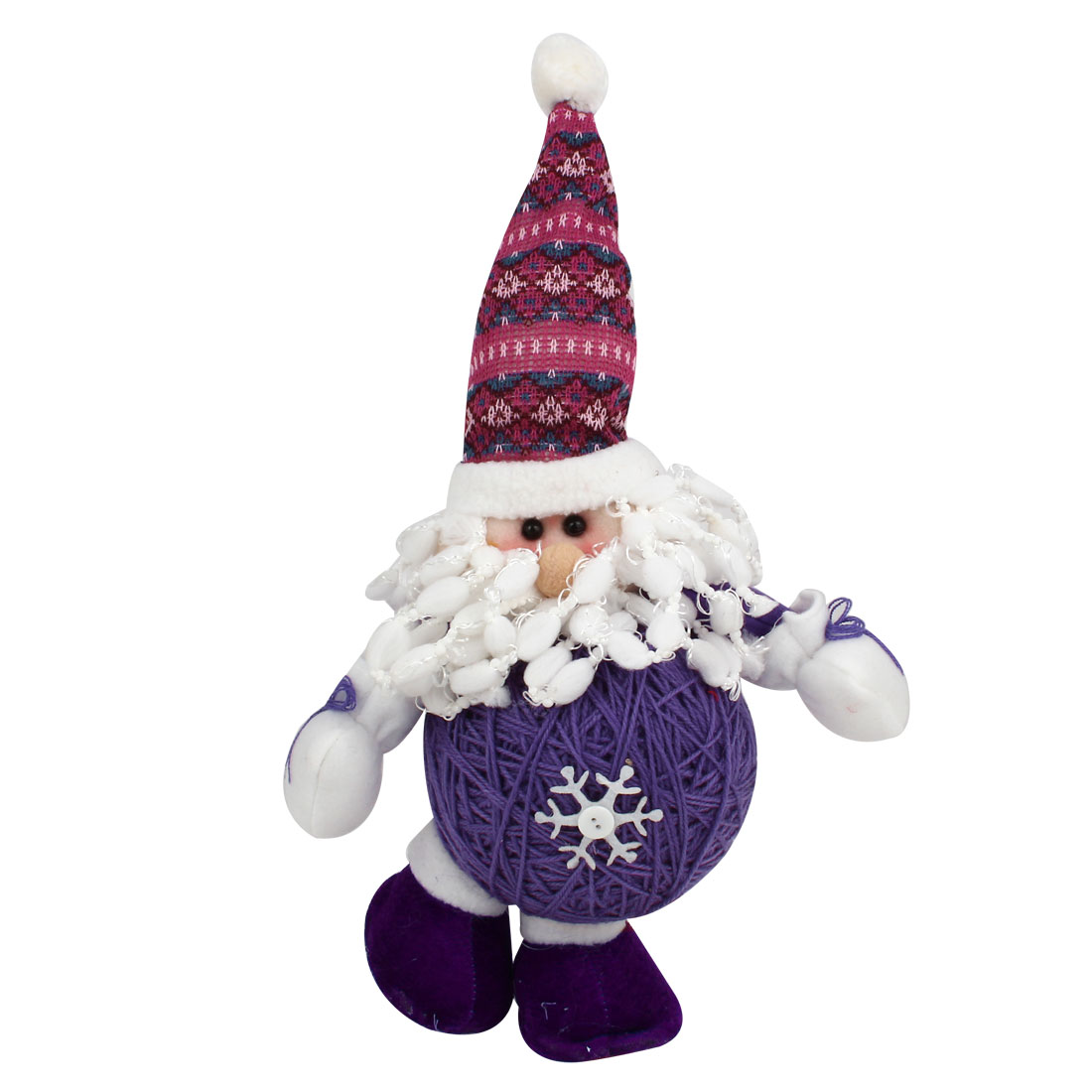 Santa Claus Shape Christmas Toy Doll Gift Purple White for Xmas Trees Ornament