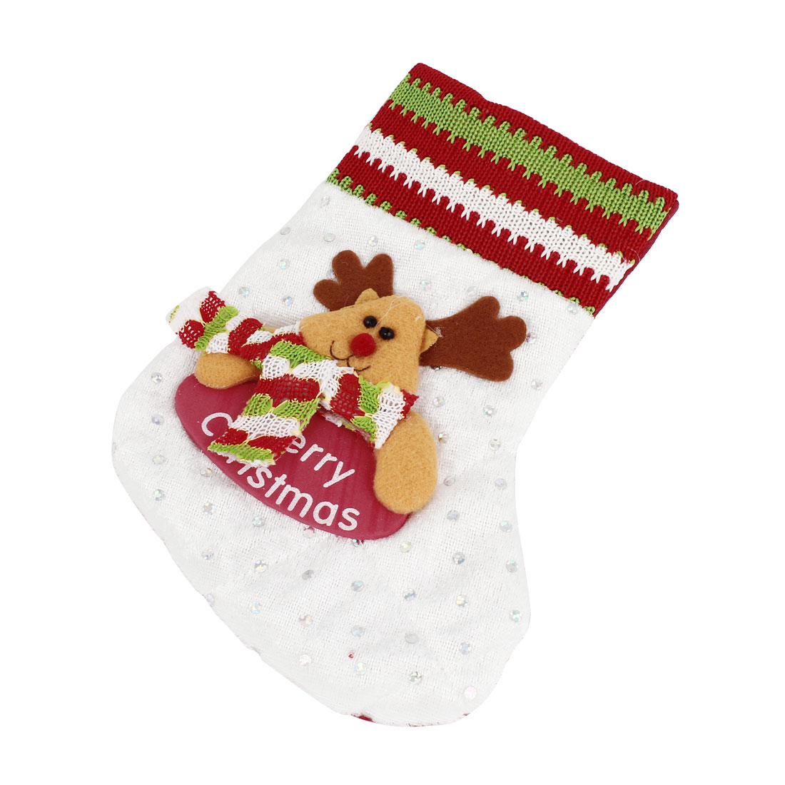 Christmas Tree Danging Decor Reindeer Head Accent Socks Pendant Assorted Color