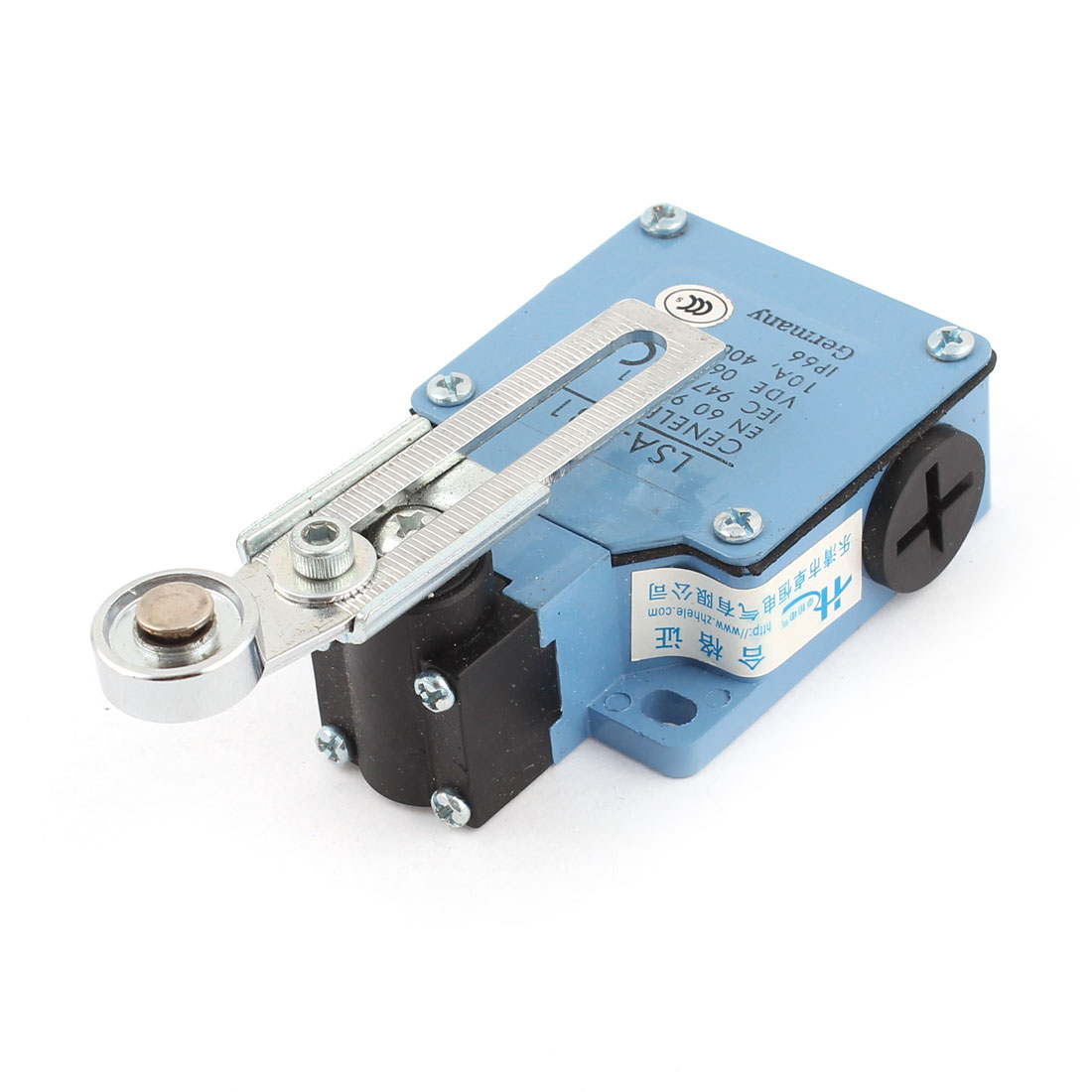 LSA-031 SPDT Momentary Rotary Adjustable Roller Lever Limit Switch AC 400V 10A