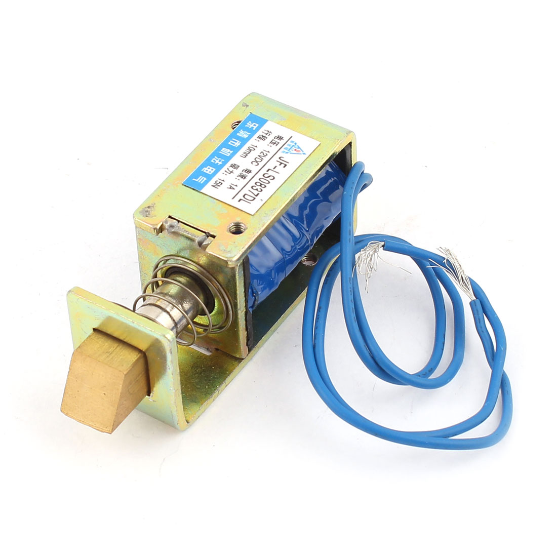 JF-0837DL DC 12V 1A 10mm 15N Pull Type Open Frame Electromagnet Solenoid for Door Lock
