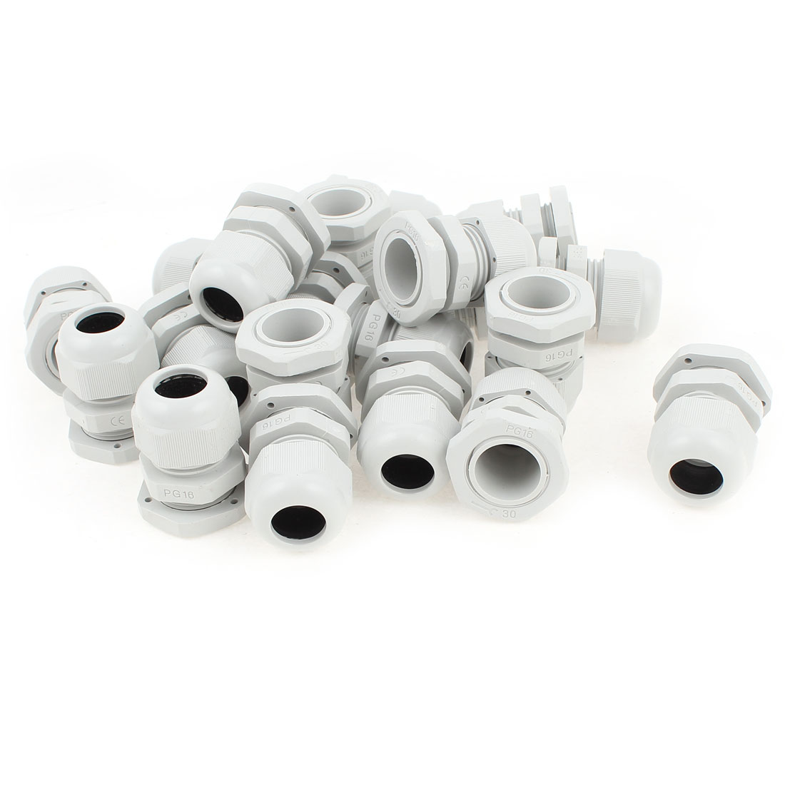 20 Pcs PG16 10~14mm Dia Cable Wire Waterproof Connector Gland White