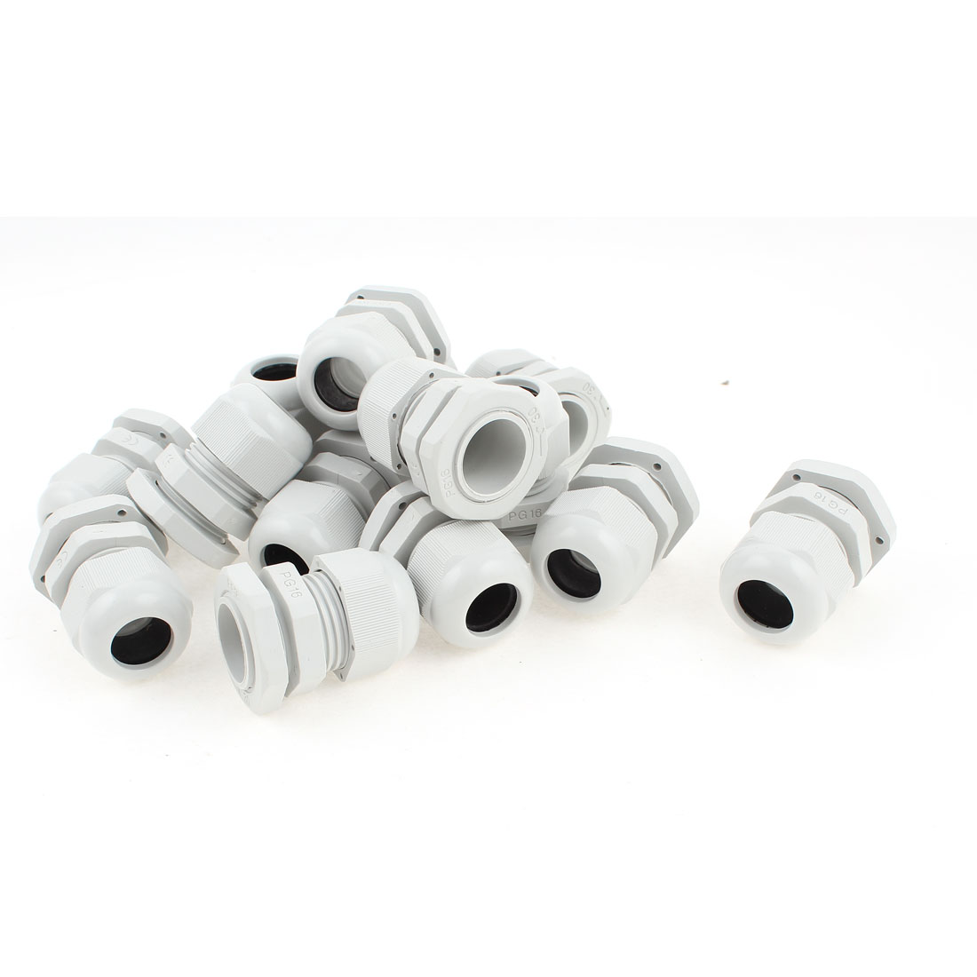 15 Pcs PG16 10~14mm Dia Cable Wire Waterproof Connector Gland White