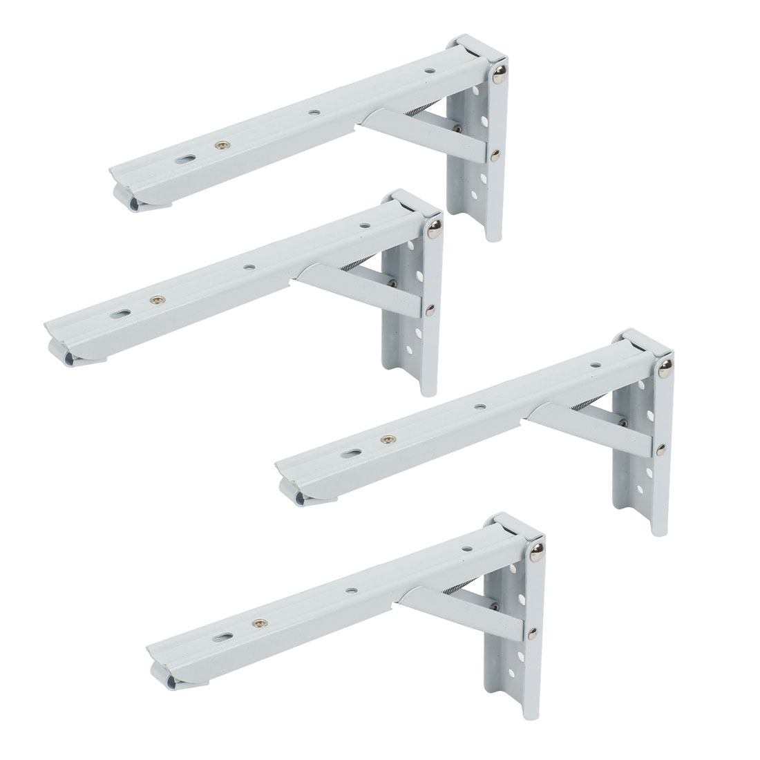 "4 Pcs Right Angle Spring Loaded Folding Support Shelf Bracket 8"" Length"