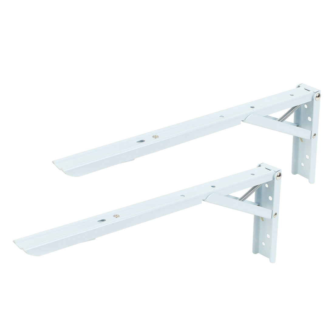 "2 Pcs Wall Mounting 90 Degree Store Shop Foldable Shelf Bracket 14"" x 5.5"""