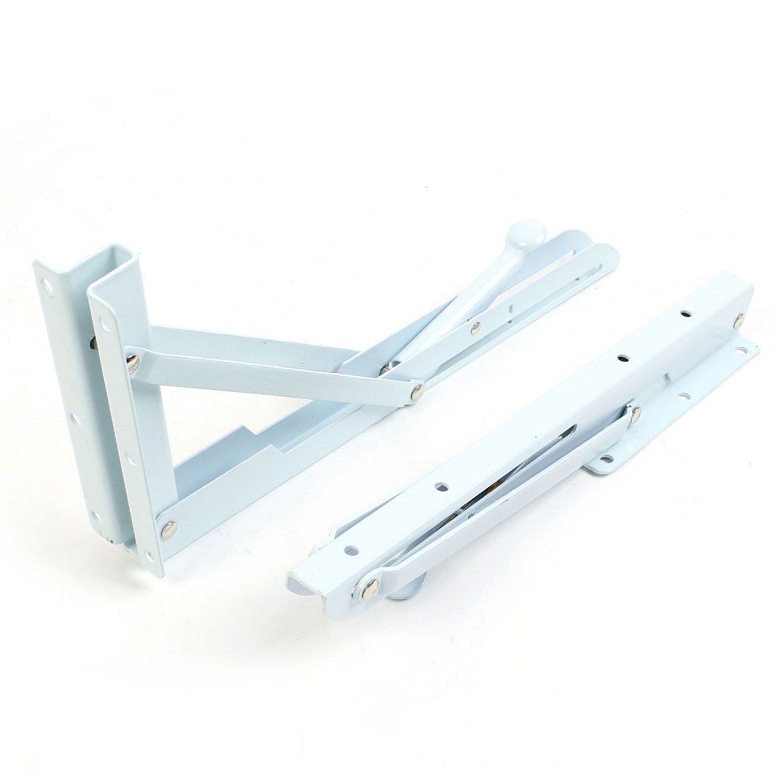 "2 Pcs Right Angle Projector Wall Mount Folding Support Shelf Bracket 12"" x 5"""