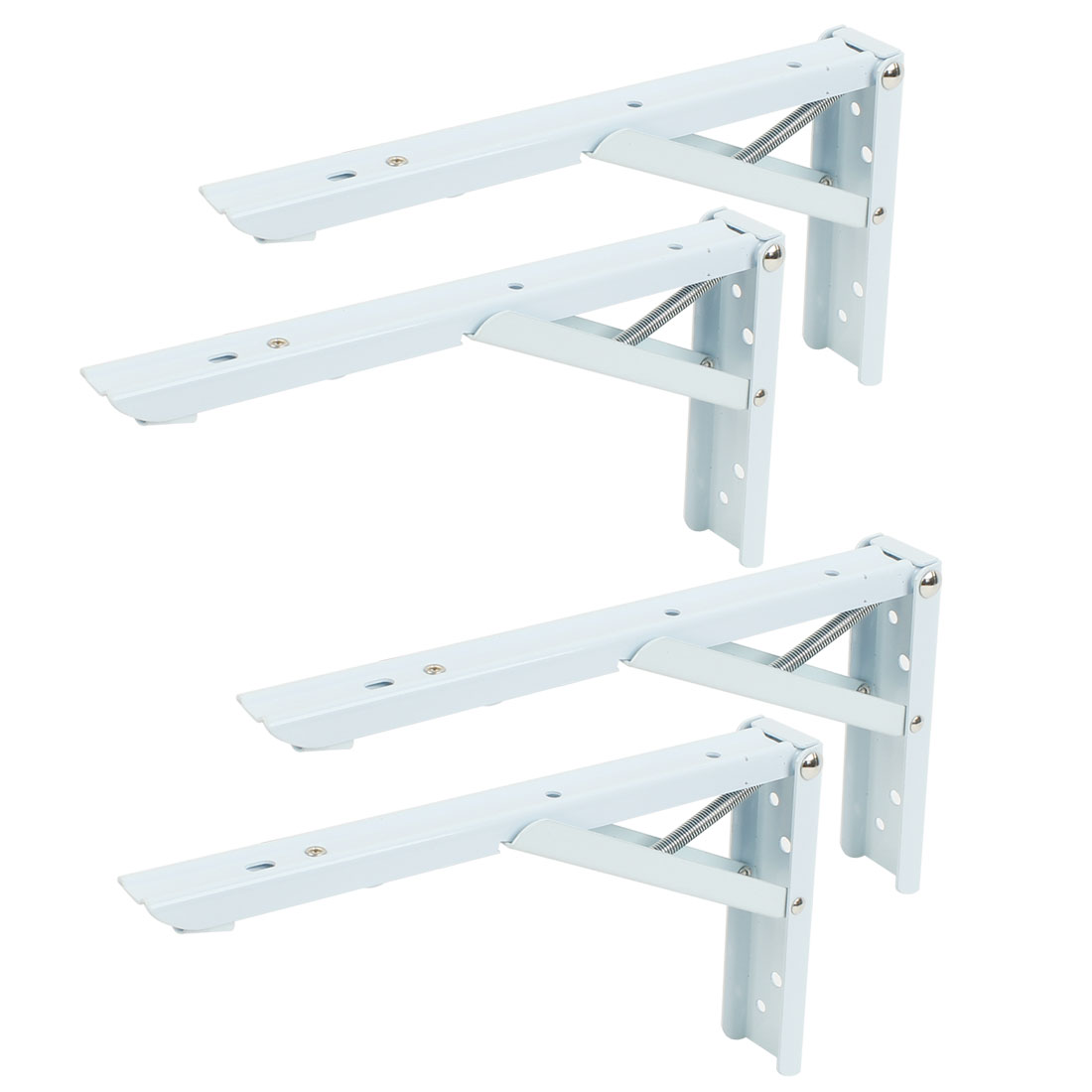 "4 Pcs Wall Mounting 90 Degree Store Shop Foldable Shelf Bracket 10"" x 5"""
