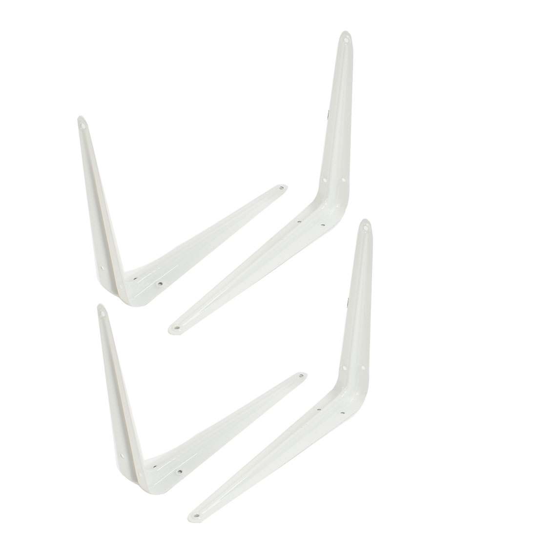 4 Pcs L Shaped Wall Mount Support Shelf Bracket Frame 20cm x 15cm