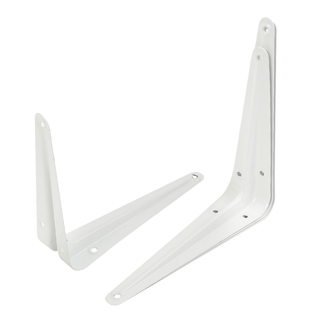 4 Pcs L Shaped Wall Mount Support Shelf Bracket Frame 15cm x 12.5cm