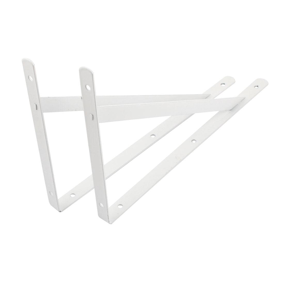 2 Pcs Triangle Wall Mount Support Shelf Bracket Frame 300mm x 190mm