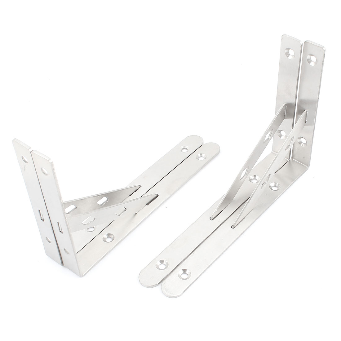 4 Pcs 90 Degree Wall Mount Support Shelf Bracket Frame 200mm x 135mm