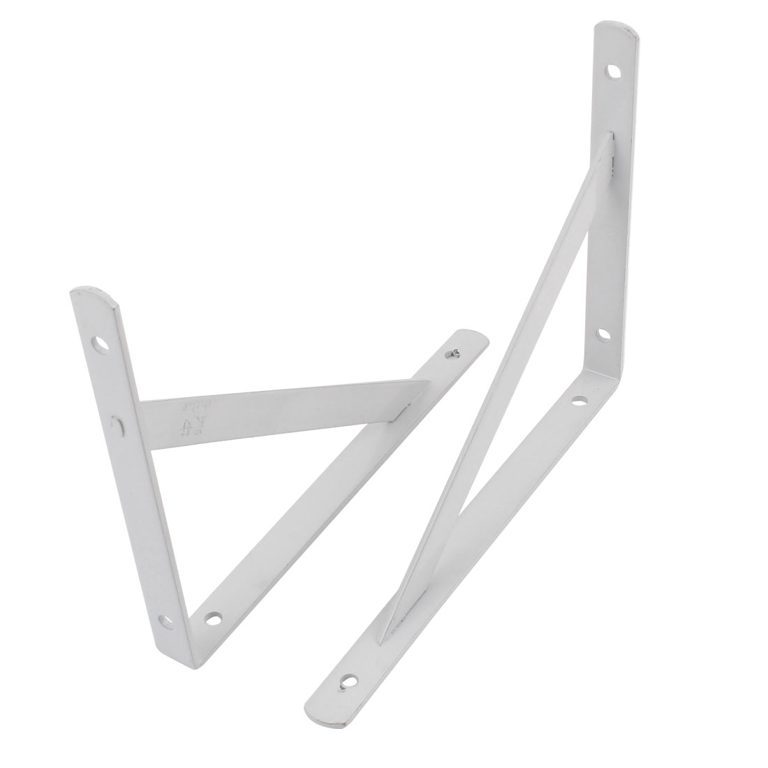 "2 Pcs White Right Angle Shop Store Wall Mounted Shelf Brackets 7"" x 5.5"""
