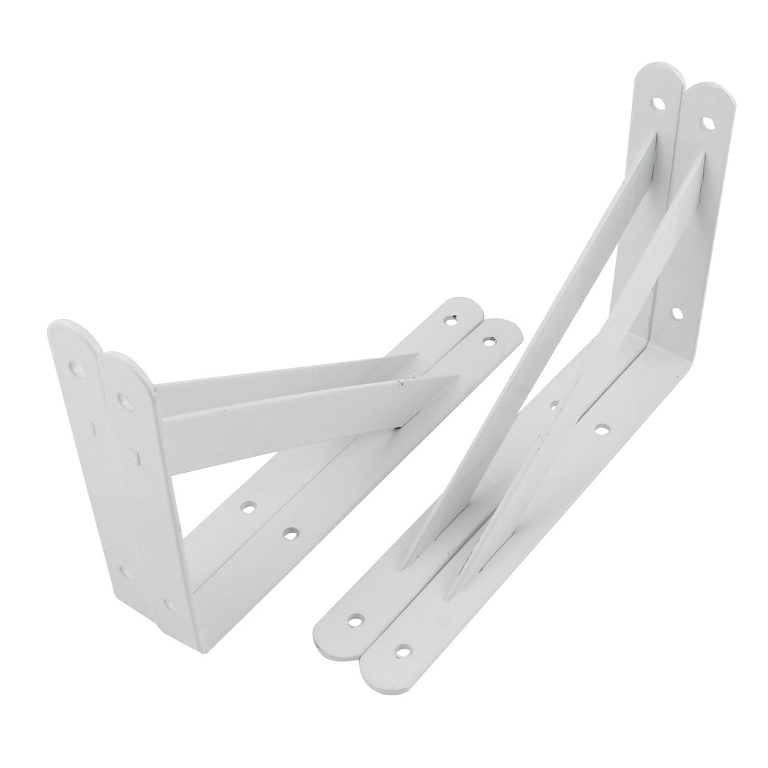 "4 Pcs White Right Angle Shop Store Wall Mounted Shelf Brackets 7"" x 5.5"""