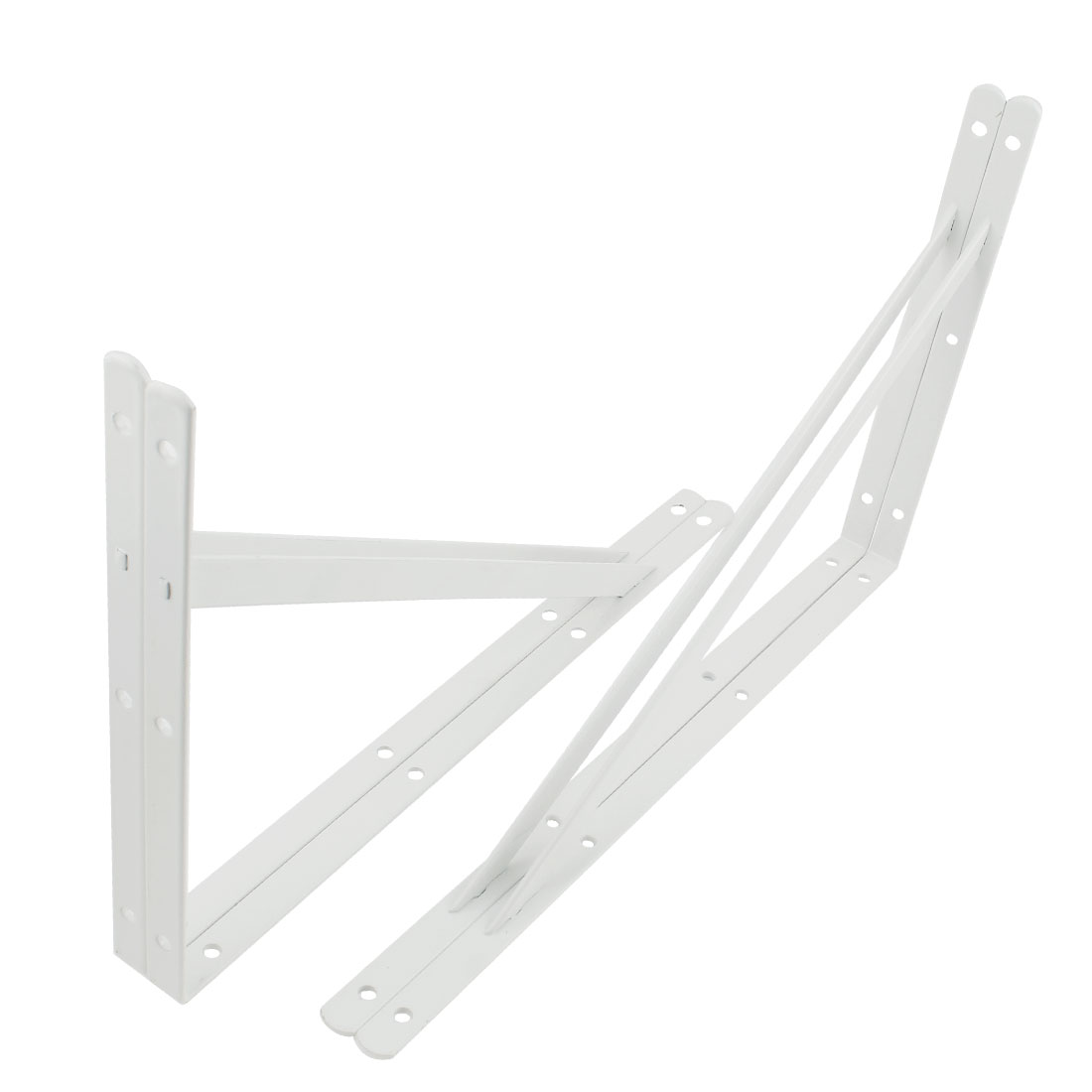 """4 Pcs White Right Angle Shop Store Wall Mounted Shelf Brackets 16"""" x 10"""""""