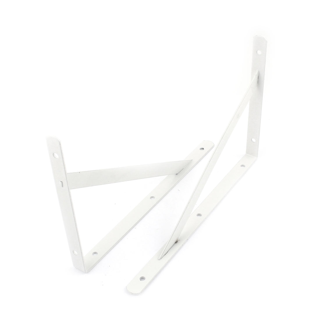 2 Pcs 90 Degree Wall Mount Support Shelf Bracket Frame 25cm x 16cm