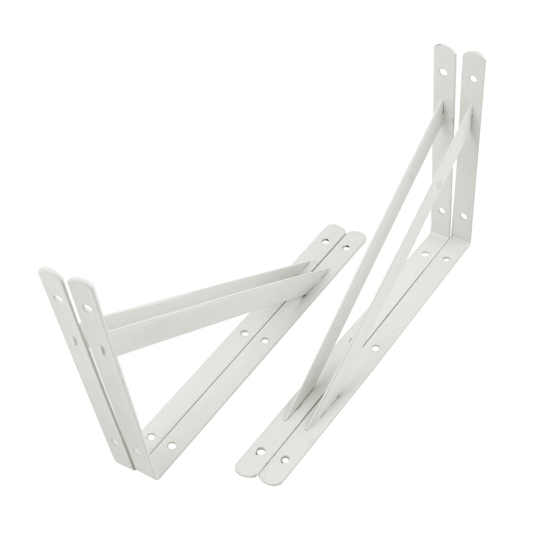 "10"" x 6"" White L Shaped Book Goods Holder Shelf Bracket Support 4 Pcs"