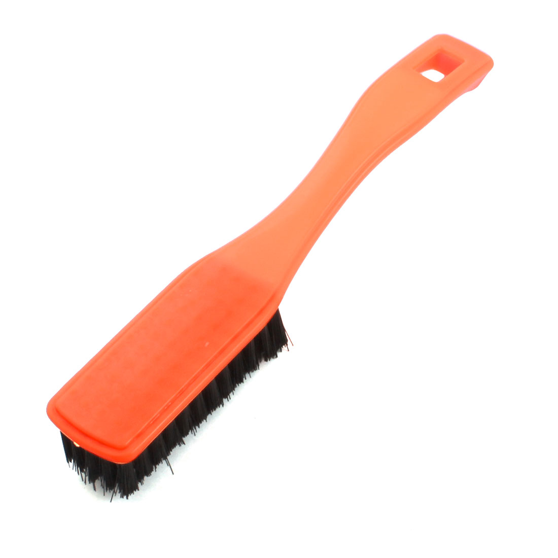 Household Orange Plastic Handle Clothes Shoes Washing Cleaning Scrubbing Brush