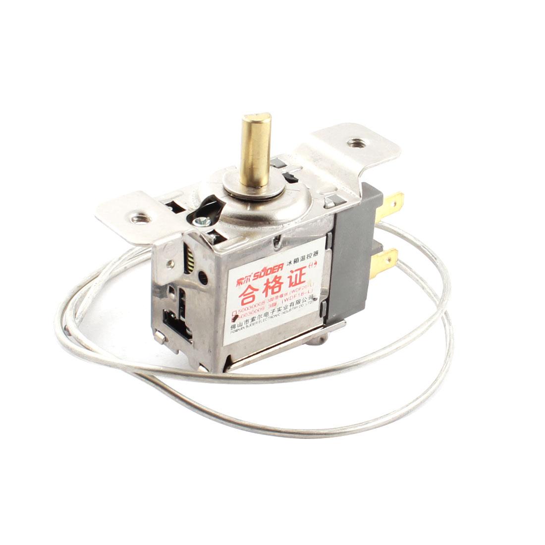 WDF18-L Refrigerator 65cm Long Cord 3P Temperature Controller Thermostat AC 250V 5(4)A