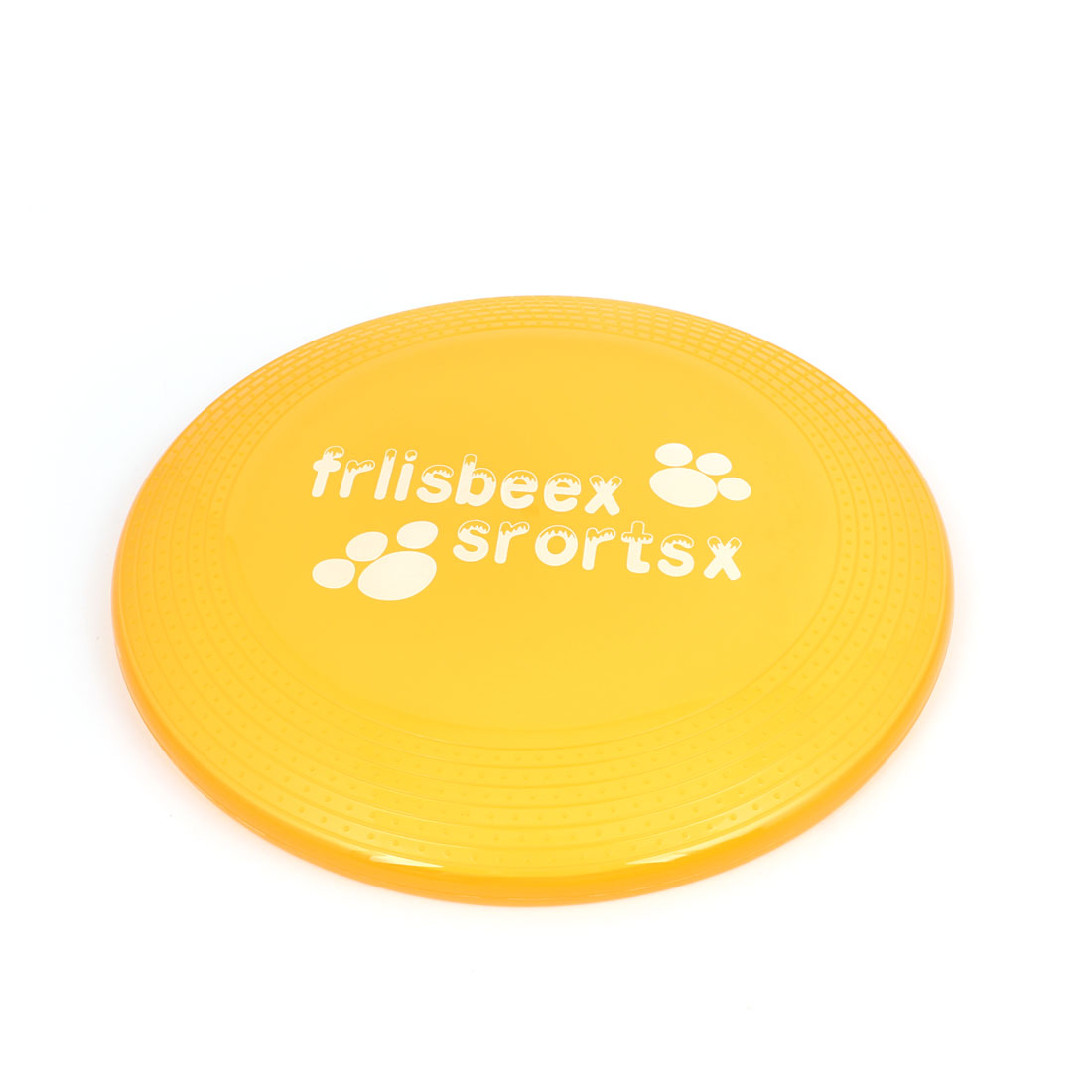 "Pet Cat Dog Yellow Plastic Round Shape Training Flyer Frisbee Toy 9"" Diameter"