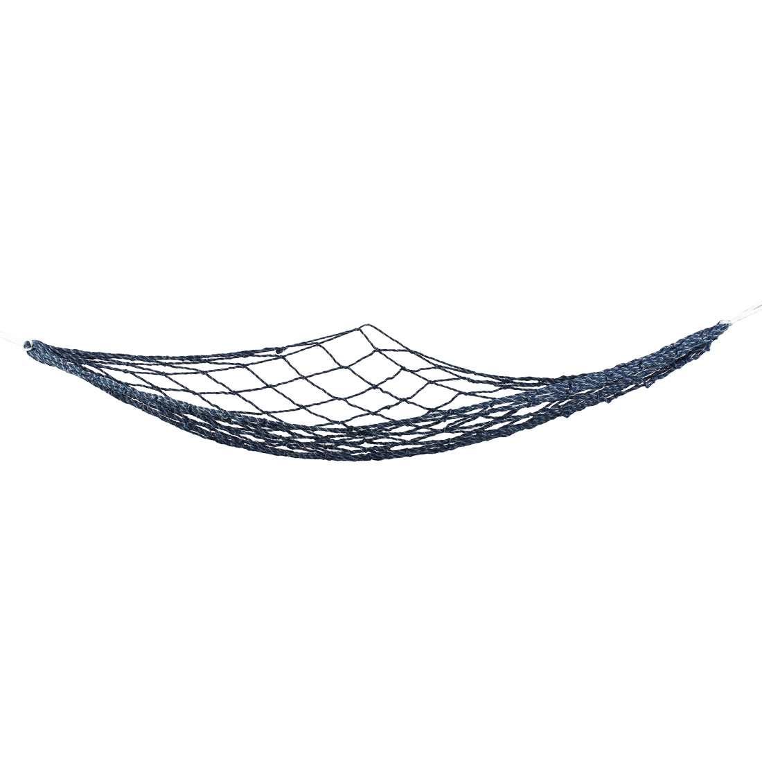 Outdoor Blue White Nylon Twisted Meshy Sleeping Bed Hammock 1.8M x 1.7M