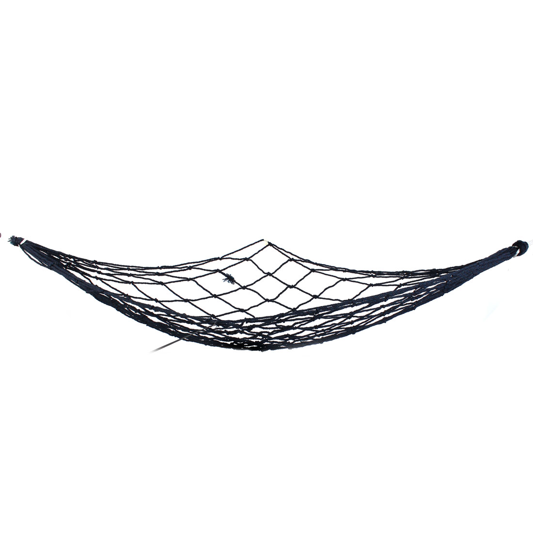 Outdoor Leisure Black Nylon Twisted Meshy Sleeping Bed Hammock 1.8M x 1.7M