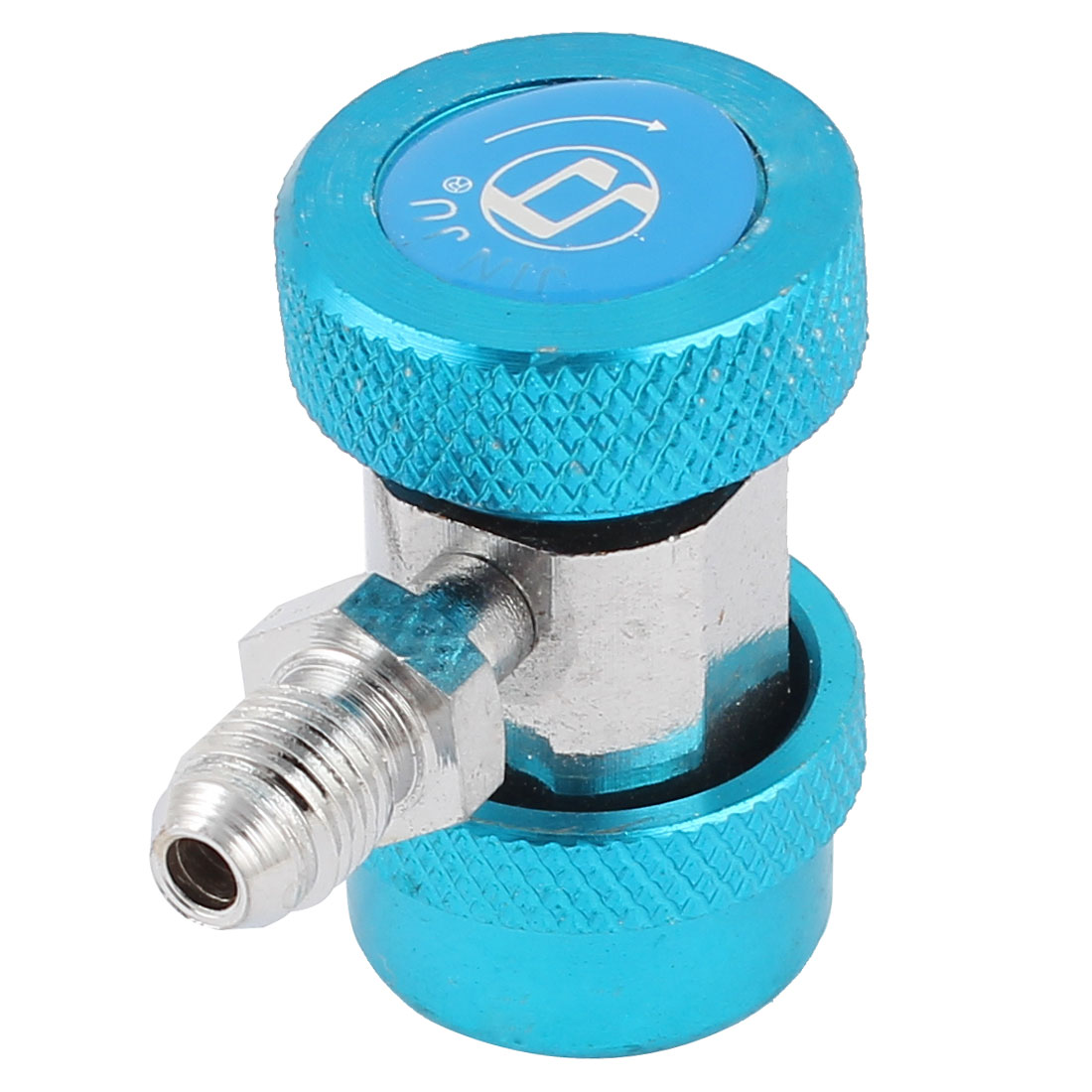 High Side R134a AC Air Condition Adjustable Quick Coupler Connector Blue
