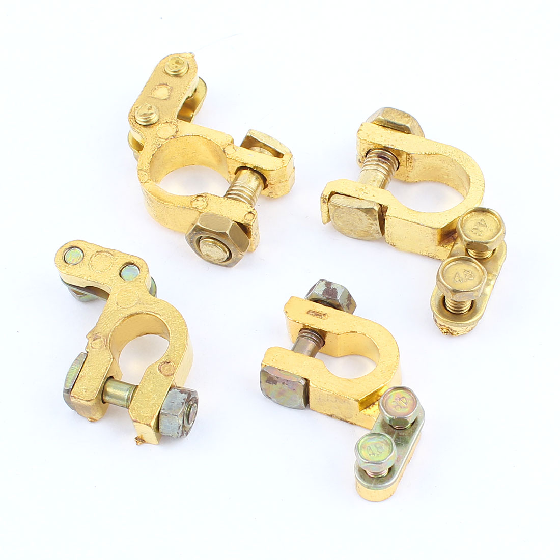 4PCS Car Vehicle 6V 12V Angle Type Battery Terminals Positive Negative Clamps