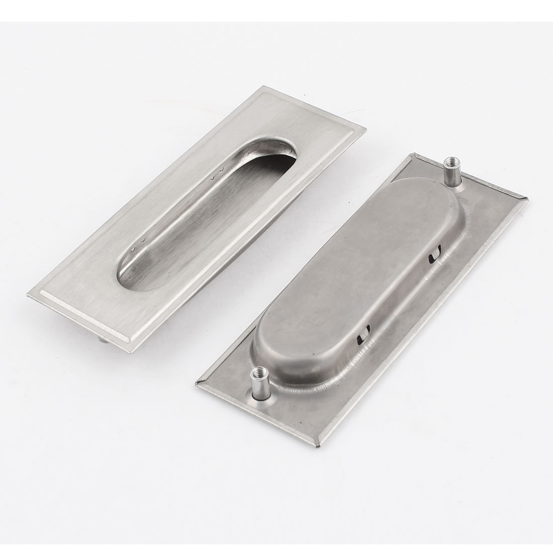 2 Pcs 11cm Long Silver Tone Metal Closet Drawer Cabinet Door Pull Handle
