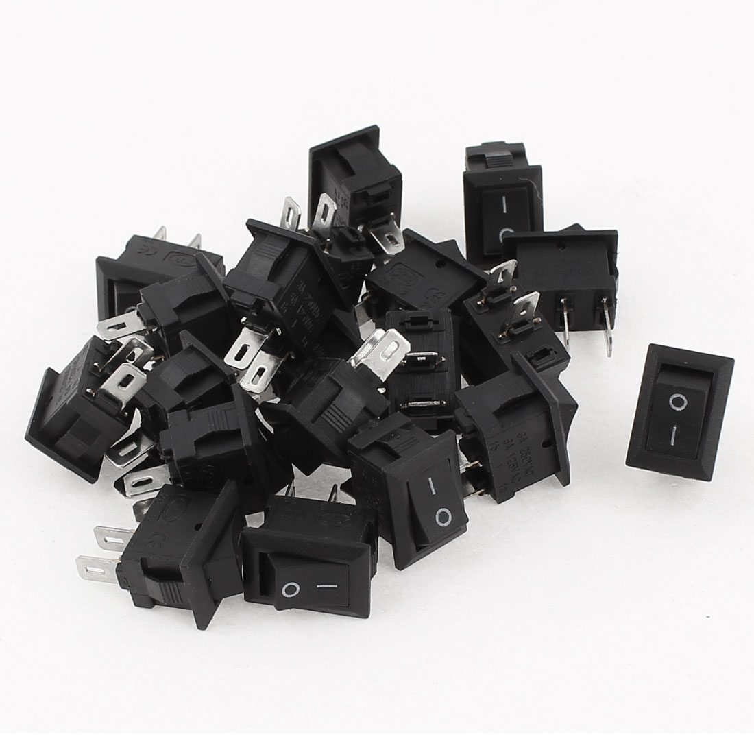 20 Pcs AC 250V 3A AC 125V 6A 2 Pin ON/OFF SPST Snap in Boat Rocker Switch