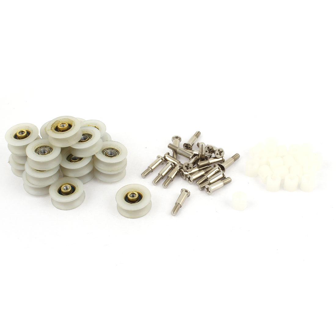 20 Pcs 22 x 9mm Sliding Gate Wheel Roller for Bathroom Sliding Door