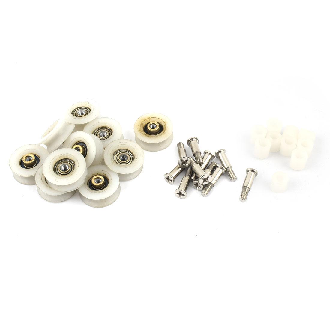 10 Pcs 22 x 9mm Gate Wheel Roller for Bathroom Sliding Door