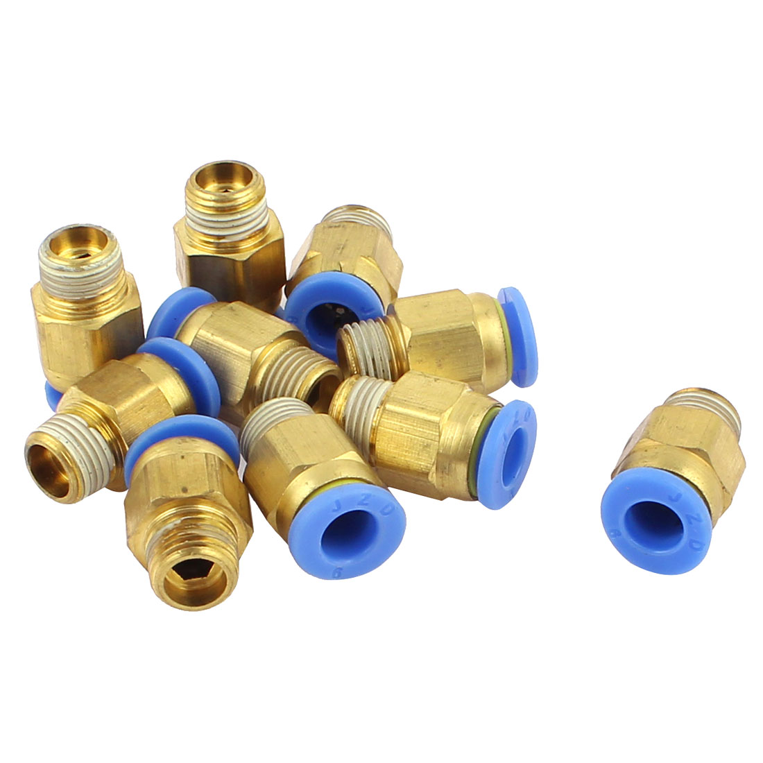 6mm to 1/8PT Male Thread One Touch Push In Quick Coupler Fittings 10PCS