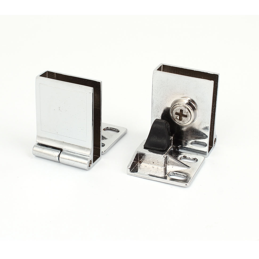 2 Pcs Stainless steel Shelf Clamp Support Brackets for 7mm Thickness Glass