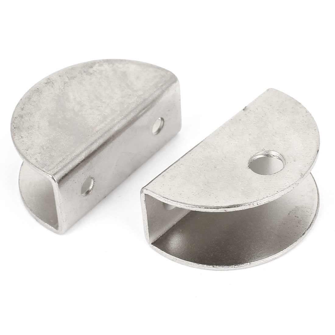 2 Pcs Stainless Steel Shelf Clip Support Brackets for 15mm Thickness Glass