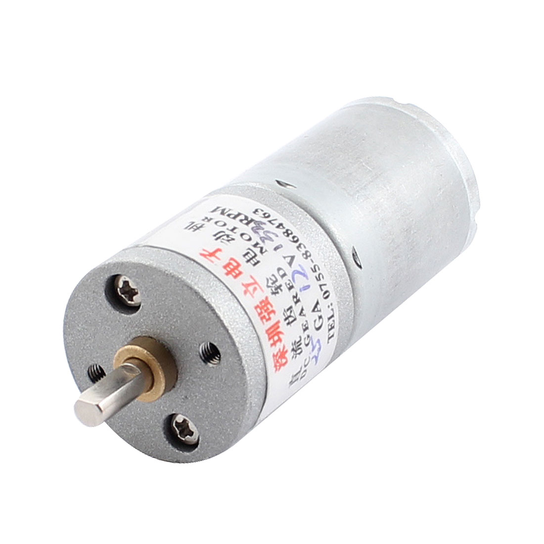 12V 133RPM Speed Soldering Cylindrical DC Geared Gear Box Motor
