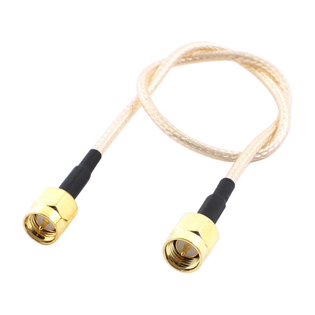 26.5mm Length SMA Male to Male Double Shield RF Antenna Pigtail Coaxial Cable Adapter Connector