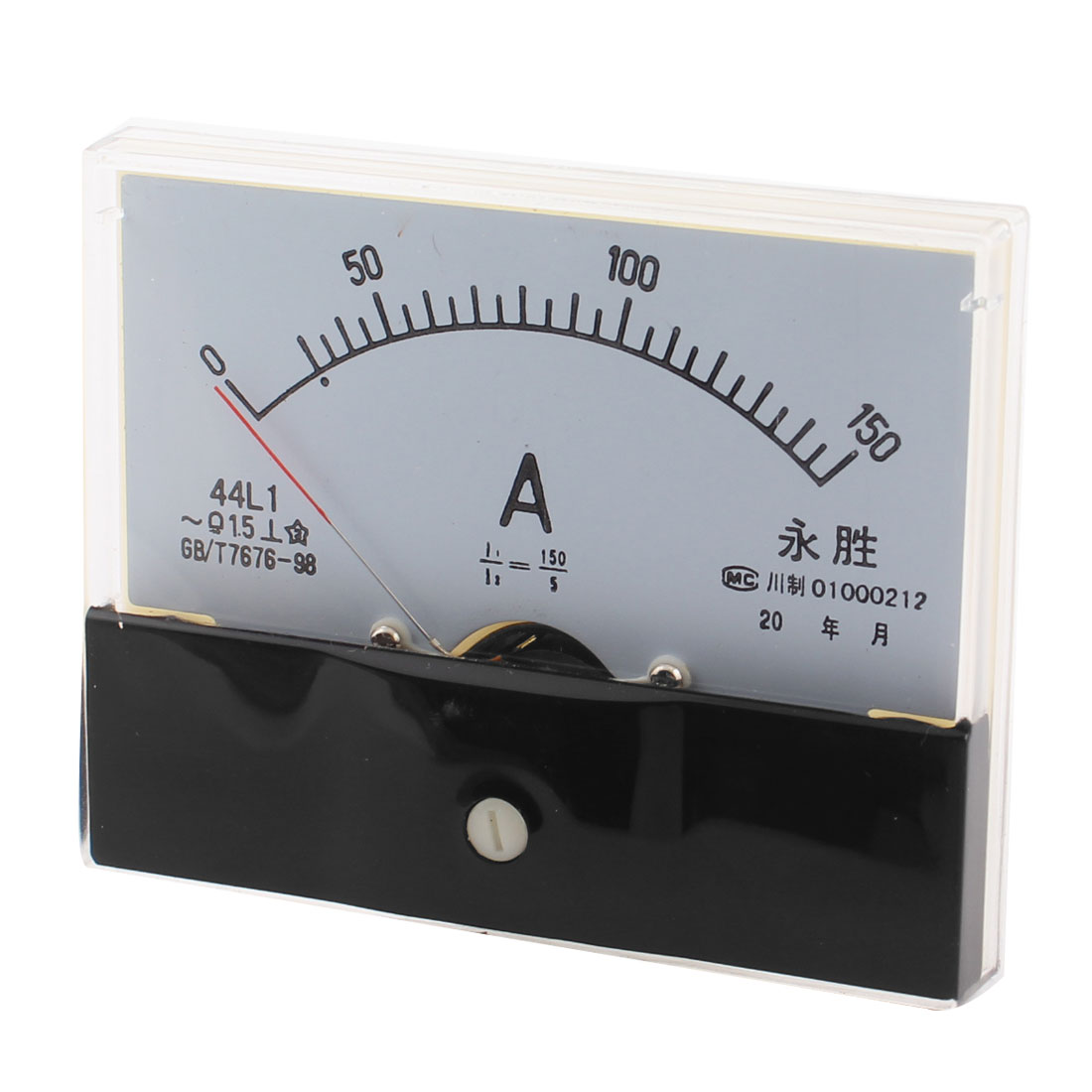 44L1 AC 0-150A Class 1.5 Rectangle Shape Analog Panel Ammeter Gauge Ampere Meter Amperemeter