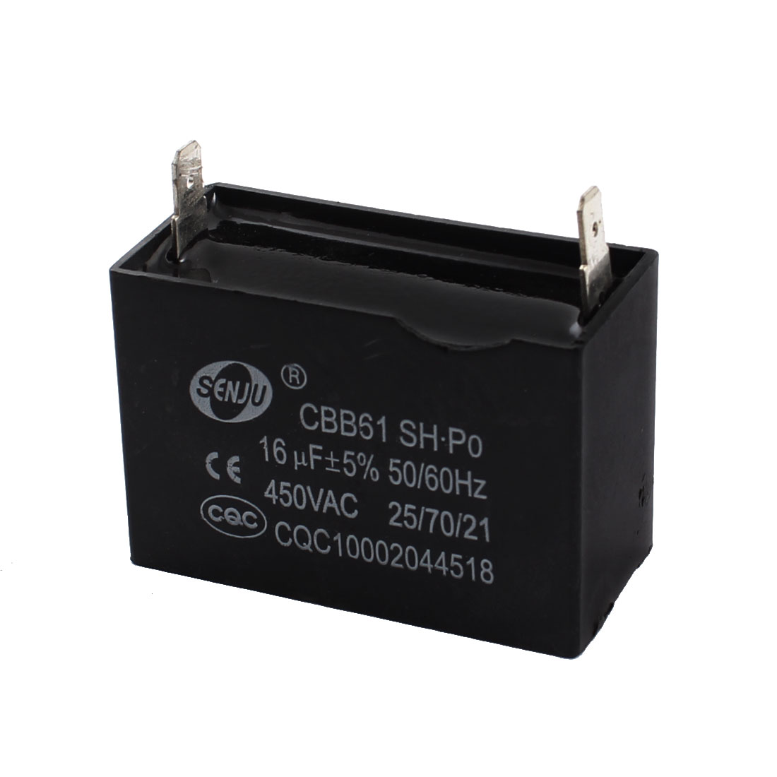 CBB61 AC 450V 16uF Fan 2 Terminals Motor Run Capacitor for Air Conditioner