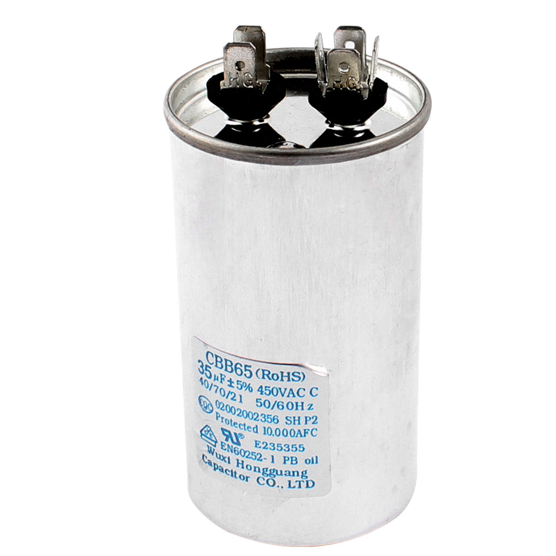 Air Conditioner AC 450V 35uF 5% 50/60Hz Non Polar Polypropylene Film Motor Capacitor CBB65
