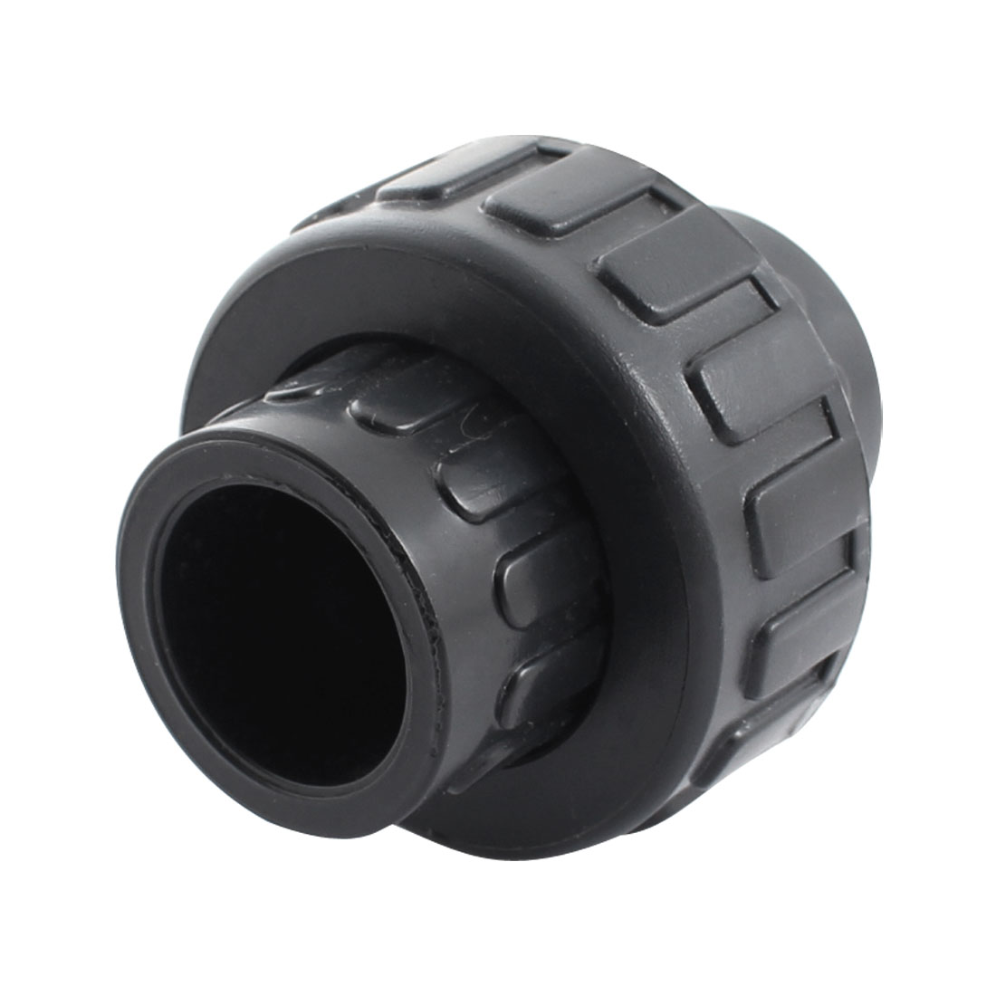 25mm Dia Detachable Black PVC Drainage Water Pipe Hose Coupling Adapter Connector Quick Fitting