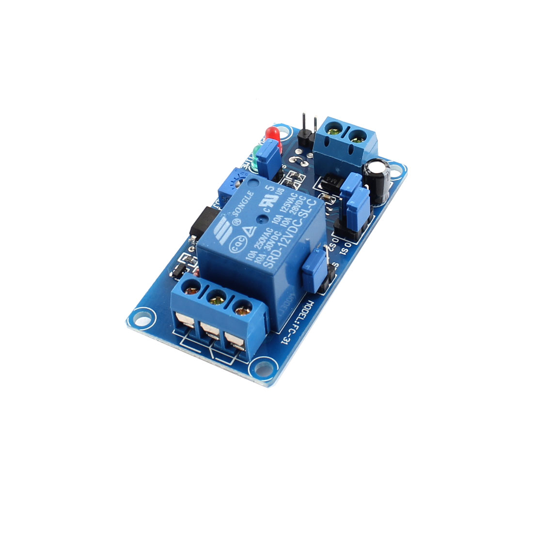 FC-31 Blue 1-Channel NO Triggered Time Delay Relay Switch Module PCB Board DC12V