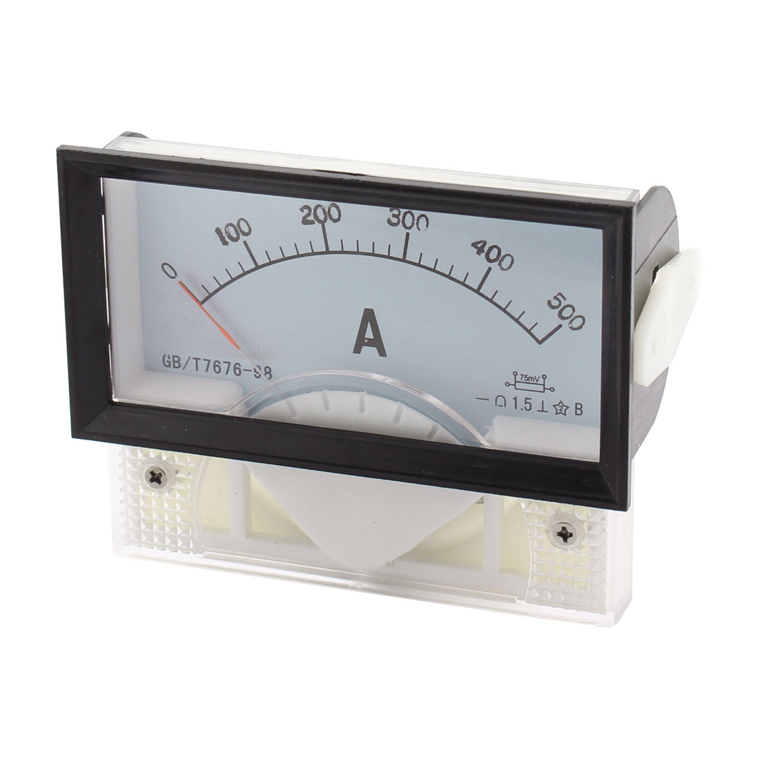 69C17 DC 0-500A Class 1.5 Rectangular Analog Panel Ammeter Gauge Amperemeter Meter