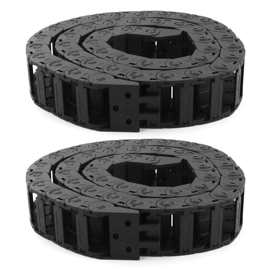 2pcs 1Meter 33ft Long 15mm x 30mm Black Plastic Towline Cable Drag Chain