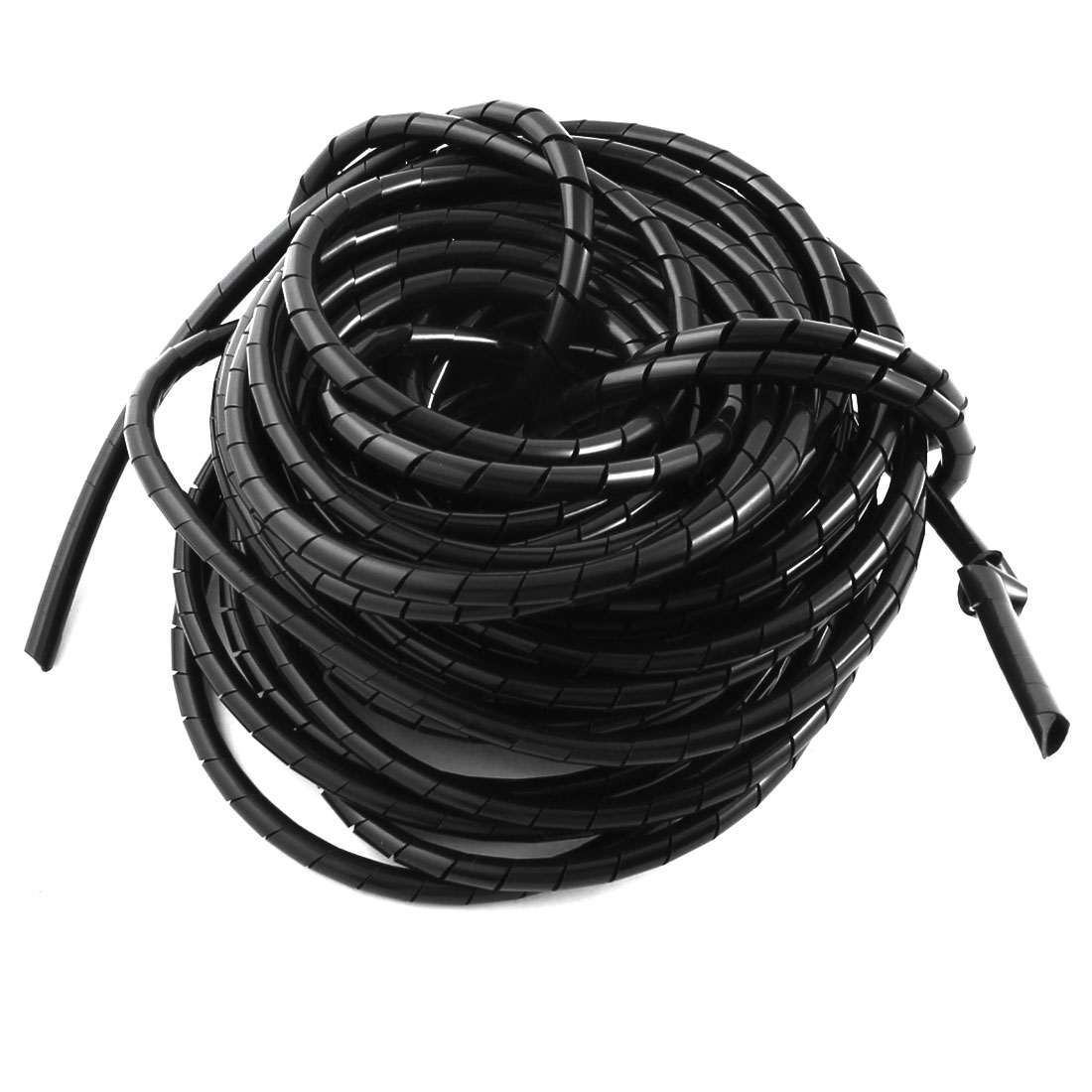 6mm 39Ft Spiral Wrapping Wrap Band Tube Computer Manager Cable Black 6mm Outer Dia