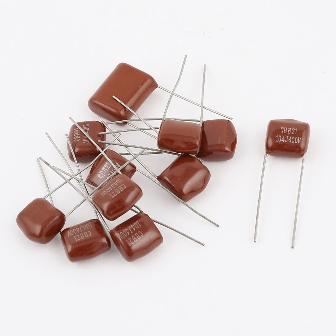 10pcs 104J 400V 0.1uF 5% Tolerance Metallized Polyester Film Capacitors CBB21