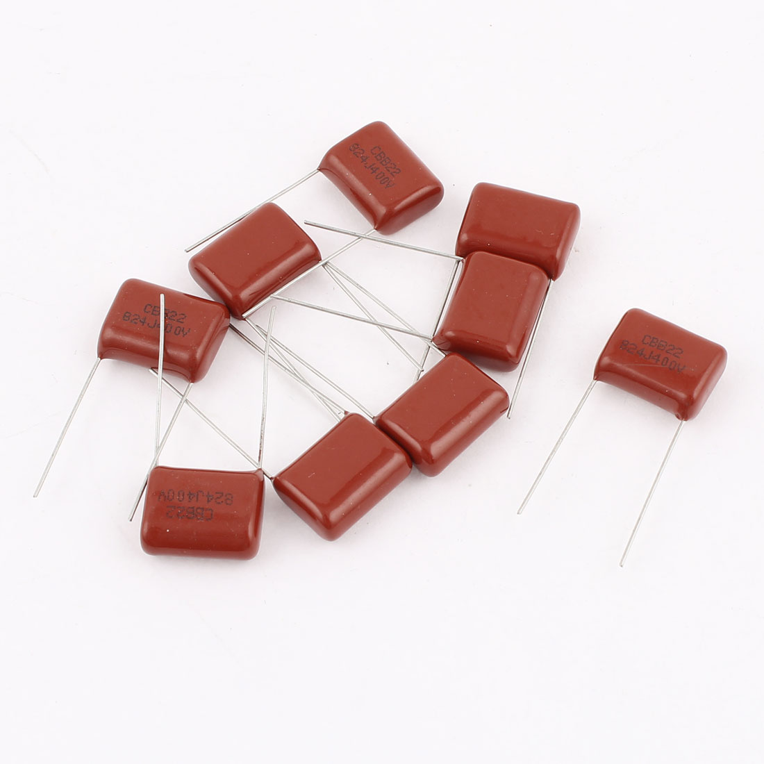 10pcs 824J 400V 0.82uF 5% Tolerance Metallized Polyester Film Capacitors CBB22