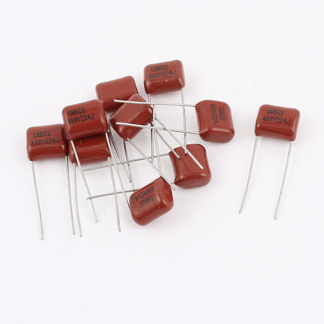 10pcs 224J 400V 0.22uF 5% Tolerance Metallized Polyester Film Capacitors CBB22