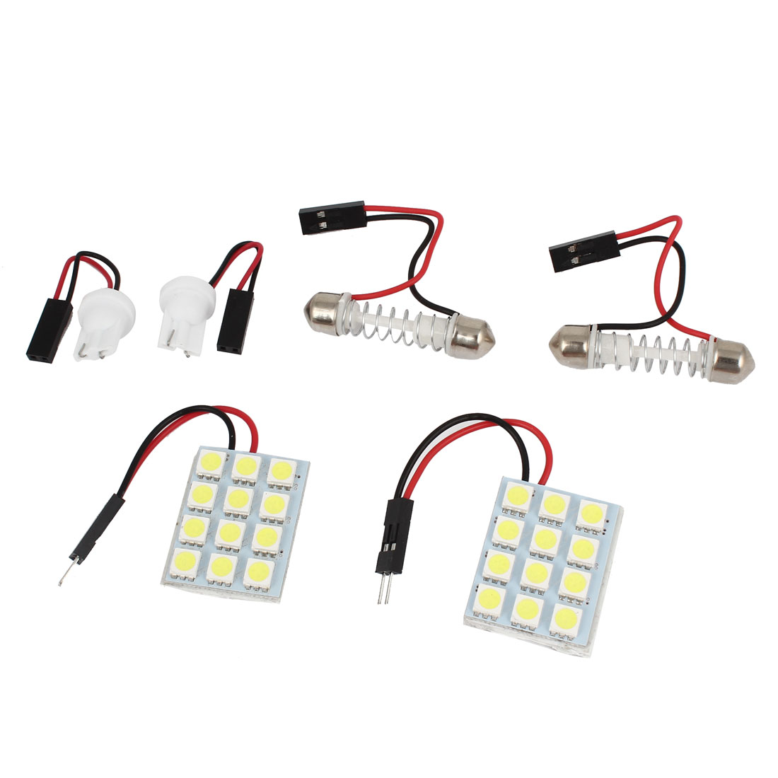 2 Pcs Blue 5050 SMD 12 LED Panel T10 Dome Light Lamp Bulbs for Car Auto Internal
