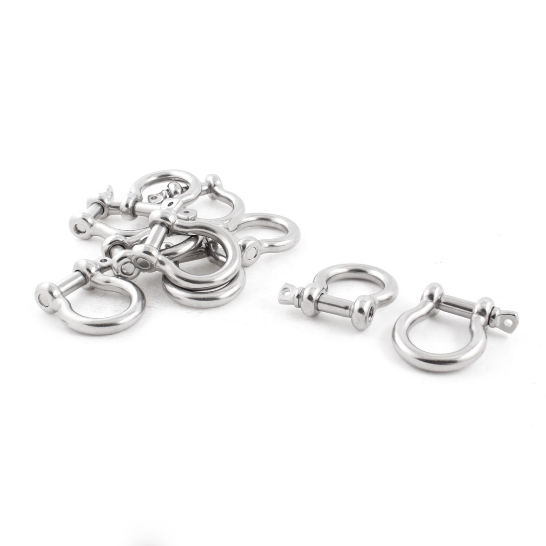 10 PCS 10mm Stainless Steel Wire Rope Bow Shackles Fasteners