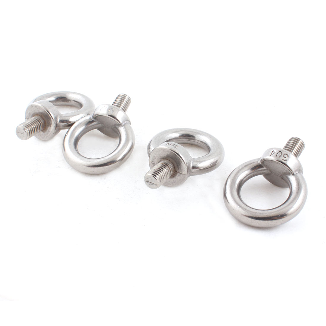 4 PCS Stainless Steel Wire Rope Eye Bolt Grips 12mm Thread